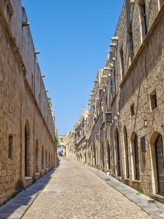 Street of Knights in old town of Rhodes, Greece. photo