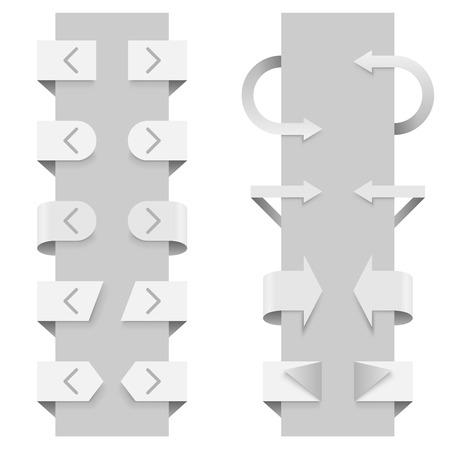 slider: Arrows vector template for slider web elements.