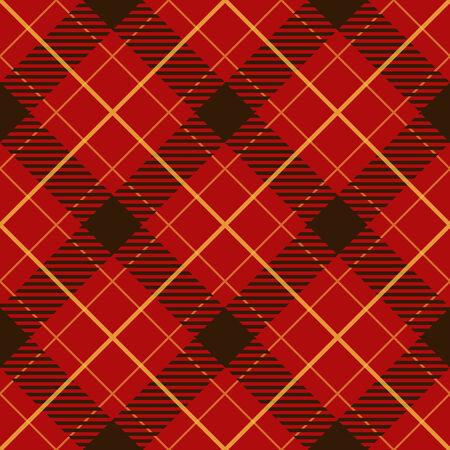 plaid: Seamless red diagonal plaid vector pattern.