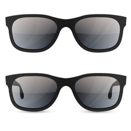 Classic sunglasses vector template isolated on white background. Vector