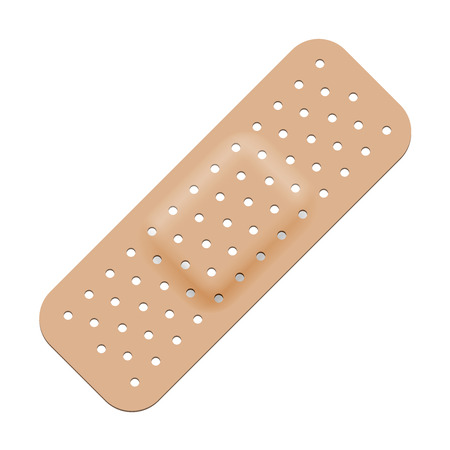 adhesive bandage: Medical adhesive bandage isolated on white background.