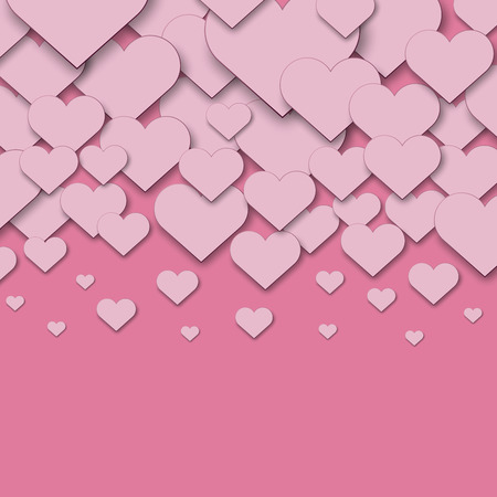 pinky: Pink cut paper hearts vector background with copy space.