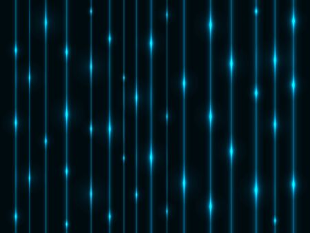 flickering: Abstract cyan energy streams horizontal technology background. Illustration