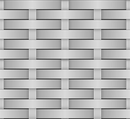 interlace: Vimini senza soluzione di modello in scala di grigi vettore texture.