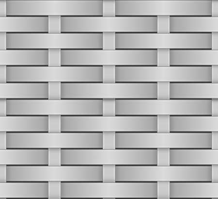 greyscale: Wicker seamless pattern greyscale vector texture.