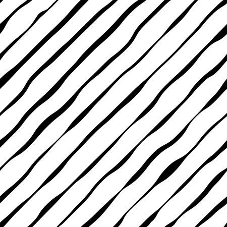 random pattern: Abstract wavy diagonal stripes vector background.