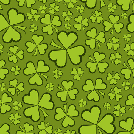 shamrock seamless: Seamless green shamrock shapes vector background.