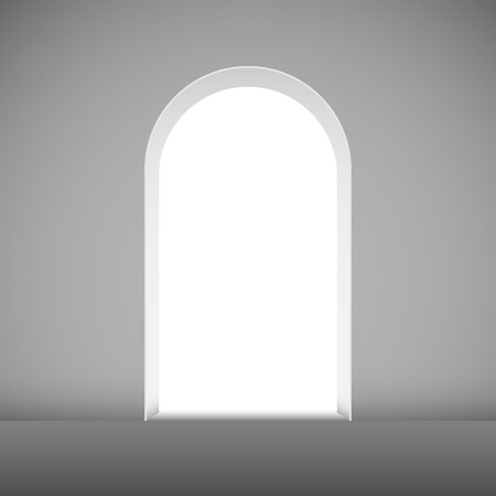 Abstract archway to the light vector template. Vector