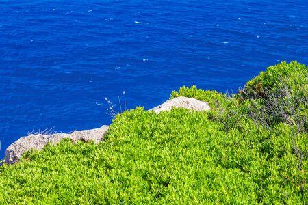 menorca: Menorca island sea coast background, Spain.
