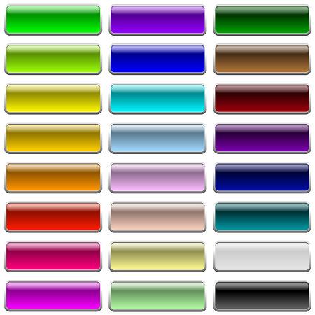 Lege kleur web knoppen geïsoleerd op een witte achtergrond. Stock Illustratie