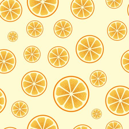 orange cut: Seamless orange cut yellow vector background.