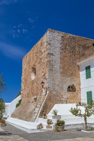menorca: Medieval part of Verge del Toro Sanctuary on Monte Toro top at Menorca island, Spain. It was built in the late 1600s.