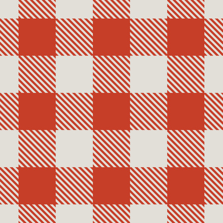 picnic cloth: Seamless red and white tablecloth vector pattern. Illustration