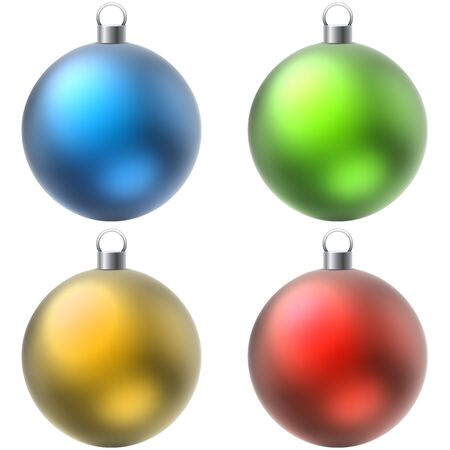 color balls: Blank color Christmas balls set isolated on white background.