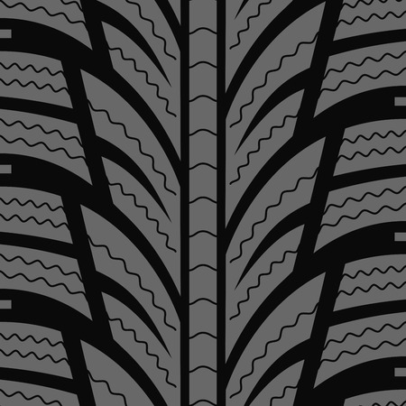 snow tires: Automobile winter tire seamless vector pattern.