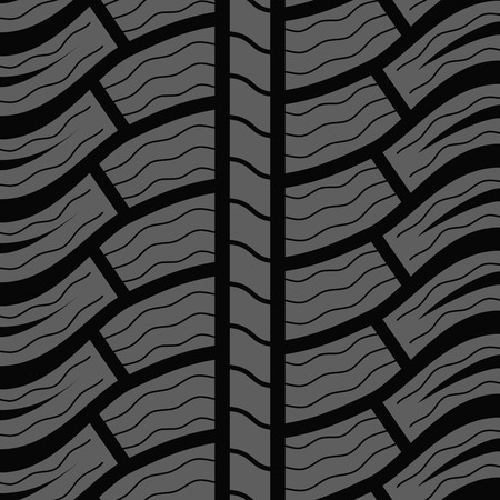 winter tire: Automobile winter tire seamless vector pattern.