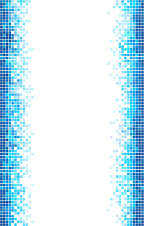 Blue and white mosaic vector template with copy space.