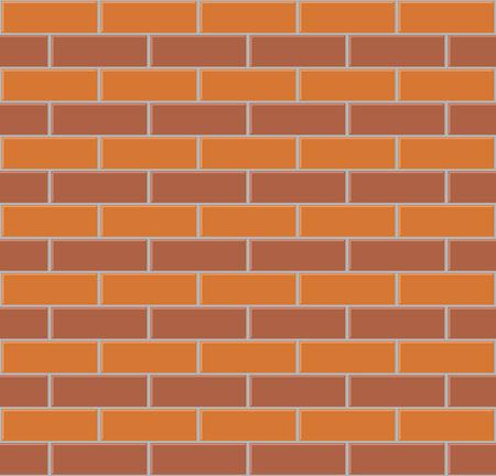 Twee kleuren bakstenen muur naadloze vector achtergrond.