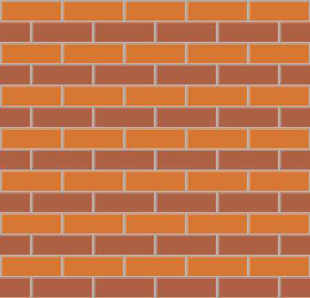 wall decor: Two color brick wall seamless vector background.