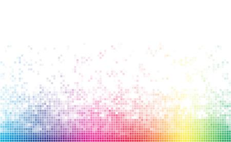Abstract spectrum kleurrijke bodem mozaïek met witte kopie ruimte.