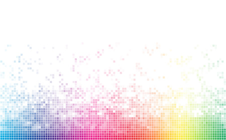 Abstract spectrum colorful bottom mosaic with white copy space.