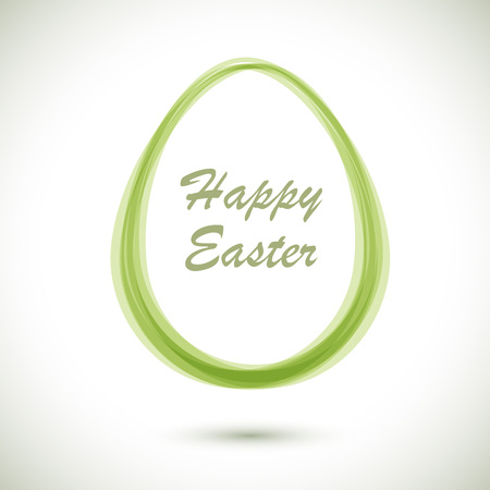 egg shaped: Modern Ester card with egg shaped frame vector template.