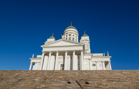 st nicholas cathedral: Helsinki Cathedral or St Nicholas Church - the biggest landmark of the city built in 1852, Finland.
