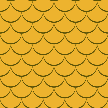 fish scale: Abstract seamless yellow fish scale vector pattern. Illustration
