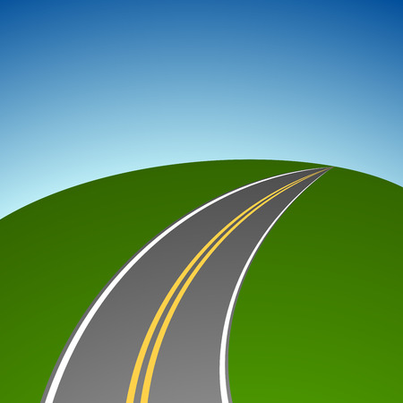 vanishing: Abstract simple highway vanishing in distance vector background. Illustration