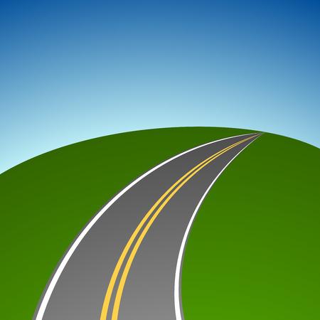 vanishing: Abstract simple highway vanishing in distance vector background. Illustration