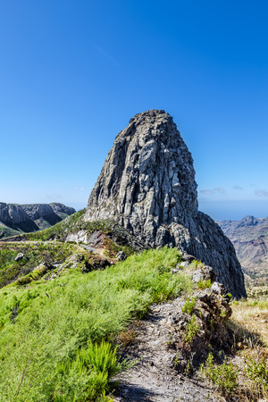 vallehermoso: Monumento Natural de los Roques at La Gomera, Canary islands, Spain. Editorial