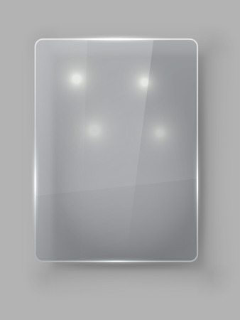 empty box: Rectangular vertical protective glass plate vector template.
