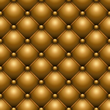 buttoned: Seamless yellow buttoned leather upholstery vector texture.