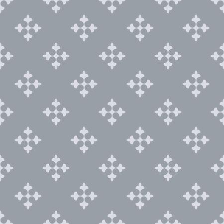 fleurdelis: Seamless fleur de lis crosses grey vector background. Illustration