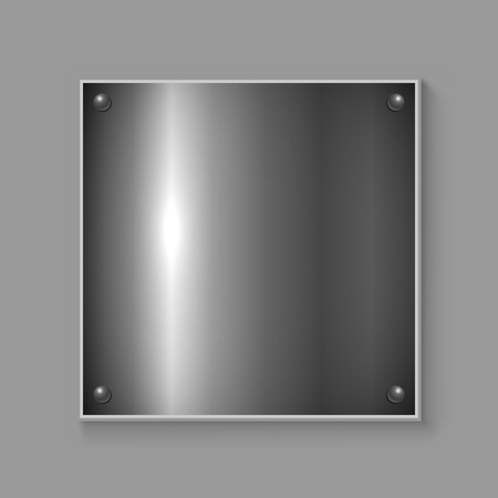 metal plate: Square metal plate industrial vector background.