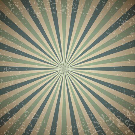 sunburst: Vintage sunburst vector background with blue rays.