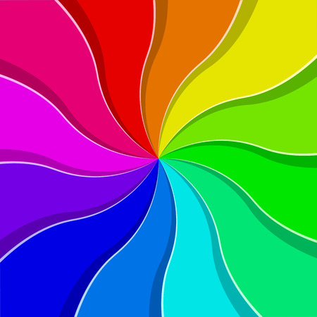 catchy: Rainbow colored abstract fan vector background.