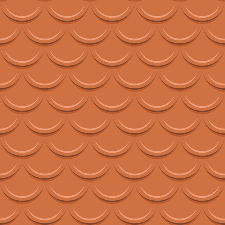 tile roof: Clay tile roof seamless vector pattern.
