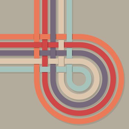 loop: Retro color stripes loop vector background.