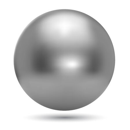 chrome ball: Chrome ball realistic vector illustration isolated on white background.