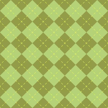 diamond shaped: Seamless green diamond shape vector pattern.