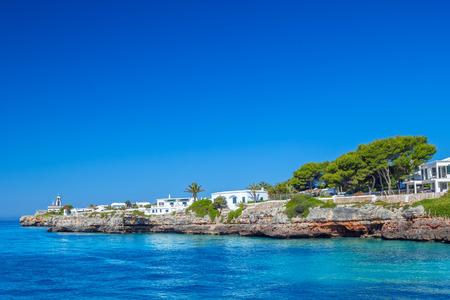menorca: View on Cala des Frares cove at Ciutadella town, Menorca island, Spain.