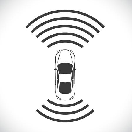 next: Driverless robotic car shape concept vector illustration. Illustration