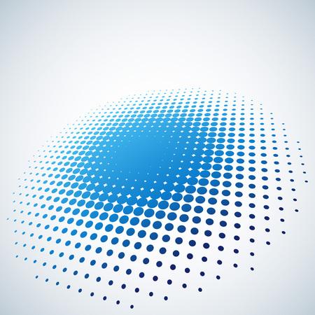 복사 공간 추상 파란색 하프 톤 자리 벡터 배경입니다. 일러스트