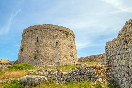 menorca: Torre den Penjat stone fort at Menorca, Spain Stock Photo