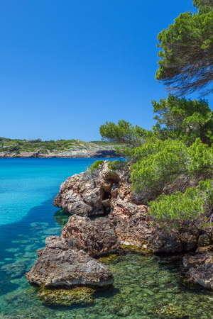 bot: Platja des bot nature view, Menorca, Spain. Stock Photo