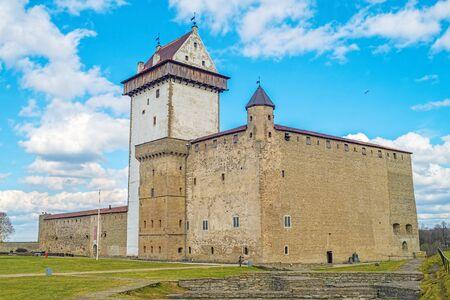 herman: Herman Narva Castle facade, Narva, Estonia. It dates back to the beginning of the 14th century.