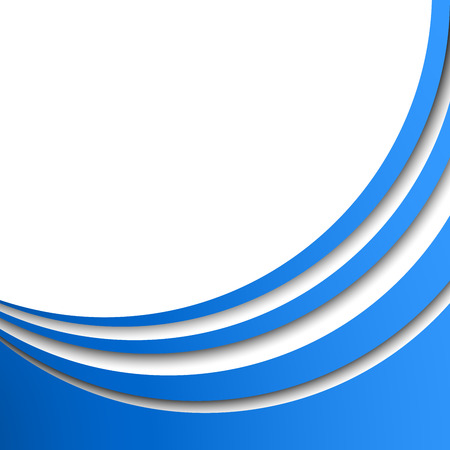 title page: Abstract blue circular stripes vector background with white copy space. Title page or cover stylish  template with 3D effect stripes.