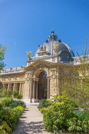 petit: Petit Palais or Small Palace green backyard in summer sunny day, Paris, France. Editorial