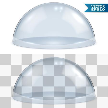 Campana di vetro isolato su bianco modello di sfondo vettoriale. EPS10 file con trasparenza può essere posato su qualsiasi sfondo luminoso.